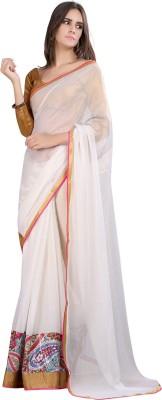 Moiaa Embriodered Fashion Chiffon Sari