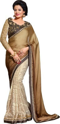 Queenbee Embellished, Embriodered, Self Design Fashion Crepe, Jacquard, Georgette, Brasso Sari