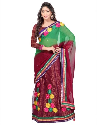 Sayonafashion Embriodered Bhagalpuri Chiffon Sari