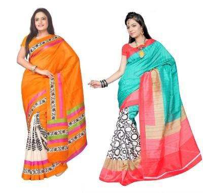 Muta Fashions Solid Fashion Synthetic Georgette Sari