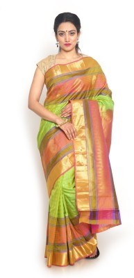 Sudarshan Family Store Self Design Kanjivaram Pure Silk Sari