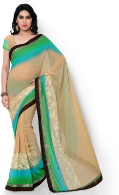 Shree Parmeshwari Applique Fashion Georgette Sari