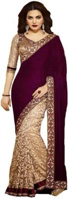 MK13 Embriodered Bollywood Velvet Sari