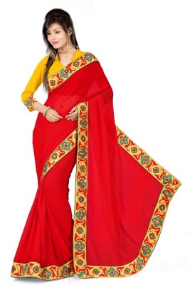 viwwan Self Design Bollywood Georgette Sari
