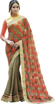 Shaily Embriodered Fashion Georgette Sari