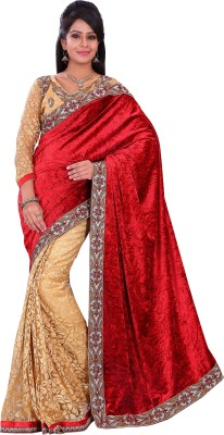 Florence Embriodered Fashion Velvet Sari