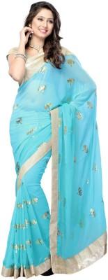 manjula feb Floral Print Bollywood Georgette Sari