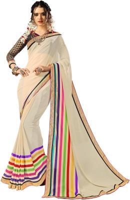 TrynGet Plain Fashion Georgette Sari