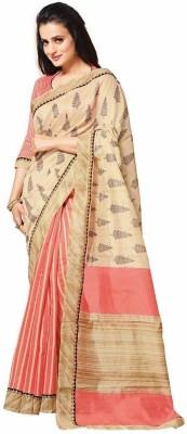 Textilebaba Printed Bhagalpuri Handloom Art Silk Sari