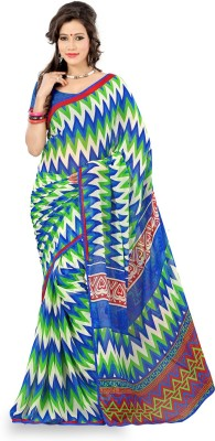 Yehii Striped Fashion Chiffon Sari
