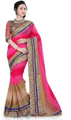 SareeBazaar Embriodered, Self Design Fashion Georgette Sari