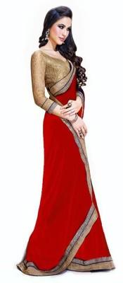 Shraddha Fashion Solid Bollywood Chiffon Sari