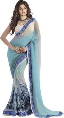 Sahiba Geometric Print Fashion Georgette Sari