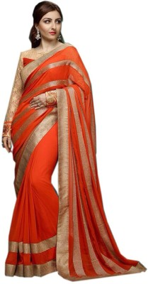 CoreFestival Striped Fashion Georgette Sari