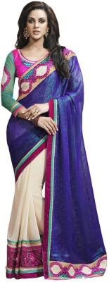 Looks & Likes Self Design Fashion Handloom Chiffon Sari