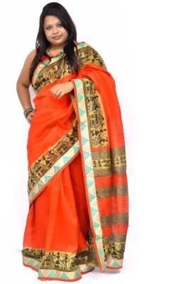 Gulmohaar Printed Bhagalpuri Silk Sari