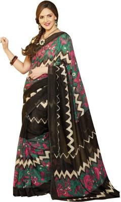 Abida Striped, Floral Print Daily Wear Art Silk Sari