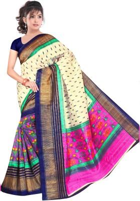 Uma Fashion Printed Bhagalpuri Banarasi Silk Sari