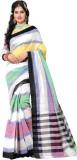 Kaveri Striped Fashion Cotton Saree (Mul...