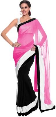 Wama Fashion Self Design Fashion Georgette Sari