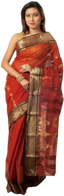Rajib's Creation Embriodered Fashion Handloom Cotton Sari