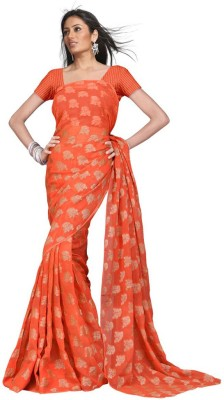 Indiangiftemporium Printed Daily Wear Handloom Georgette Sari
