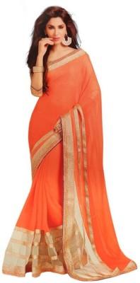 Dancing Girl Plain Bollywood Chiffon Sari