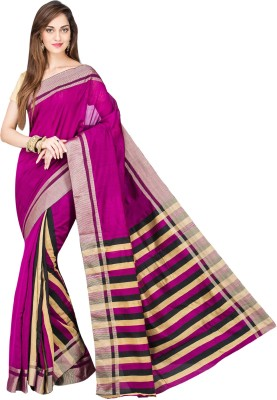 Shree Store Striped Fashion Handloom Cotton Sari