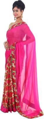 Vikrant Collections Applique Fashion Chiffon Sari
