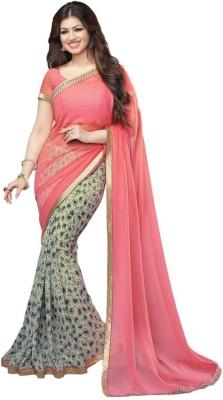 VinayTM Floral Print Bollywood Georgette Sari