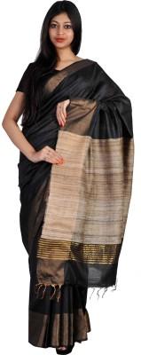 PriyanjaliBoutique Plain, Self Design Bhagalpuri Handloom Dupion Silk Sari
