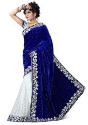 MKS Embriodered Bollywood Velvet Sari