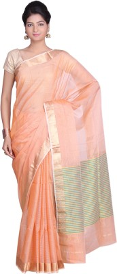Indian Artizans Woven Maheshwari Silk Cotton Blend Sari