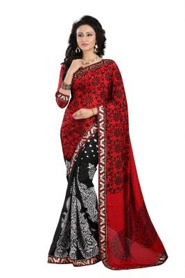 G3 Fashions Printed Fashion Synthetic Georgette Sari