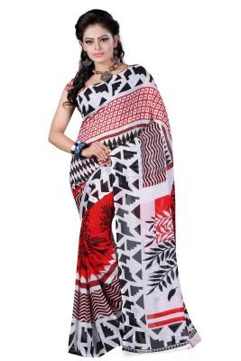 Sukuma Striped Fashion Handloom Georgette Sari