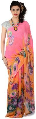 Bazzzar Floral Print Fashion Chiffon Sari