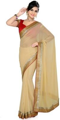 Shukan Saree Self Design Bollywood Chiffon Sari