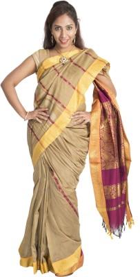 Connectshop Woven Fashion Handloom Silk Cotton Blend Sari