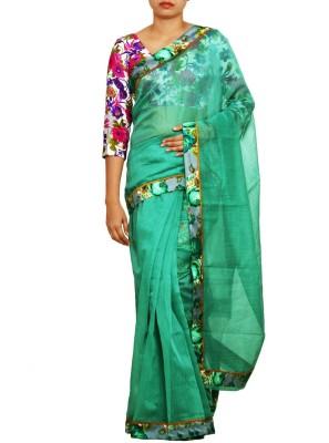 Unnati Silks Plain Banarasi Cotton Sari