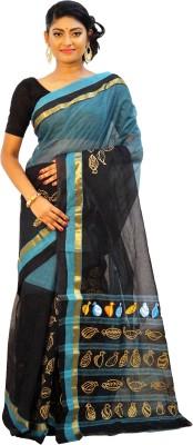 Rudrakshhh Hand Painted Jamdani Handloom Cotton Sari
