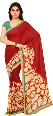 Aagaman Fashion Self Design Fashion Georgette Sari