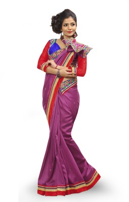 Adde Embellished Fashion Silk, Velvet Sari