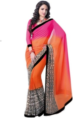 wama fashion Printed Bollywood Georgette Sari