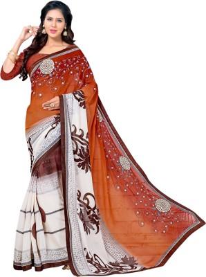 Velvetic Printed, Embriodered Fashion Georgette Sari