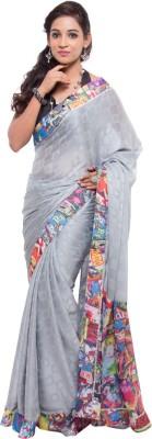 Geisha Self Design Fashion Polyester Sari