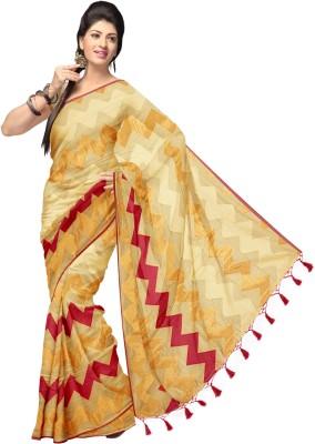 Komal Sarees Woven, Self Design Chanderi Chanderi, Art Silk Sari