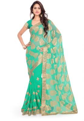 Kavyasarees Self Design Fashion Brasso Sari