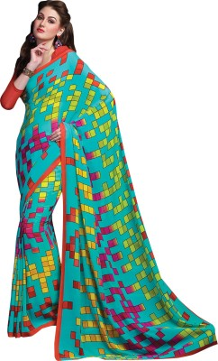Vachi Checkered Daily Wear Georgette Sari