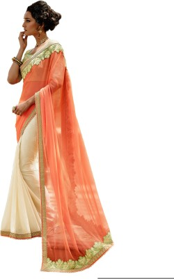 The Ethnic Chic Embriodered Fashion Chiffon, Crepe, Jacquard Sari