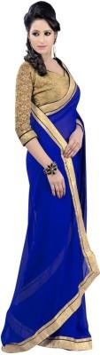 Fancyfirst Self Design Bollywood Handloom Chiffon Sari